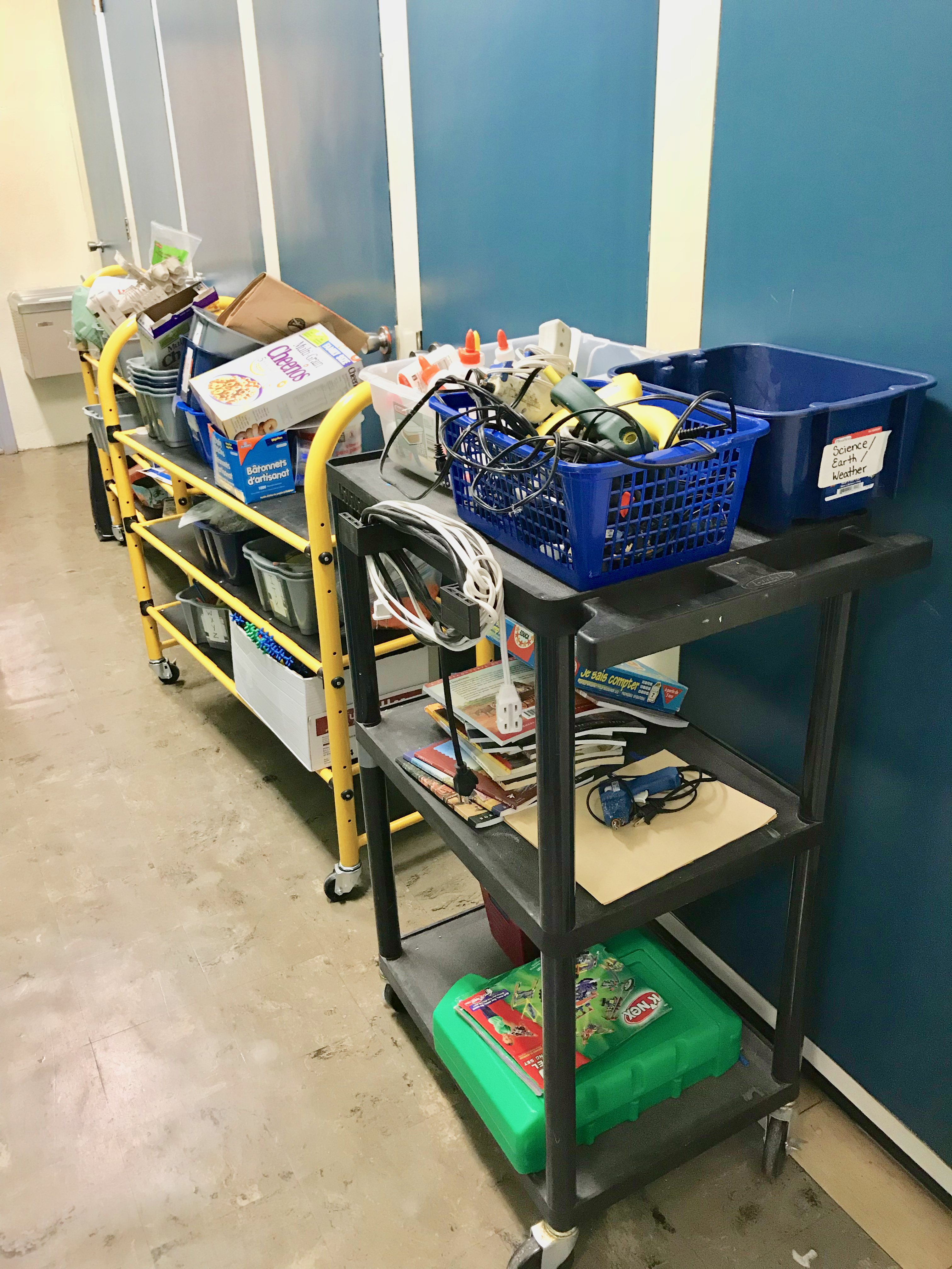 Carts for mobile Makerspaces